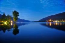 Großansicht Abendstimmung am Ossiacher See