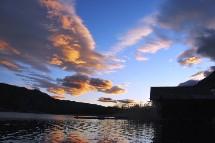 Großansicht Sonnenuntergang in Kärnten