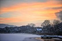 Großansicht Schnee am Ossiacher See